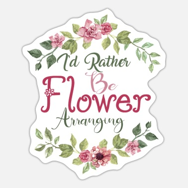 Arrangement Flower Arranging Flowers Florist Arranging Flower - Sticker