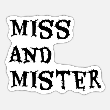 New Zealand Miss and mister - Sticker