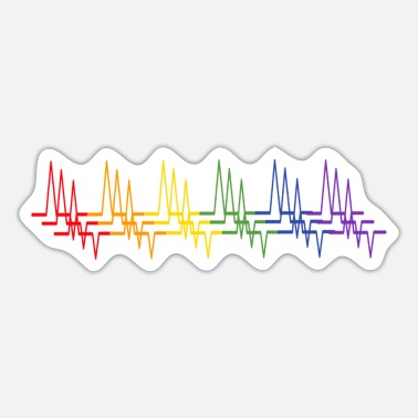 Frauenpower lgbt heartbeat gender csd rainbow aesthetic - Sticker