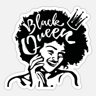 Hair Educated Strong Black Woman Queen Monotone - Sticker
