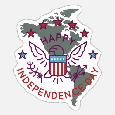 Cupido happy independence day shirt - Sticker