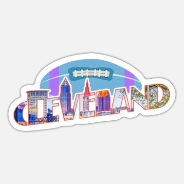 American Football American Football Cleveland Ohio USA v2 - Sticker