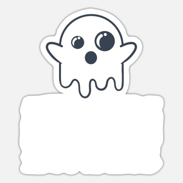 Trick Or Treat Ghost Are Created By Humans Happy Halloween - Sticker