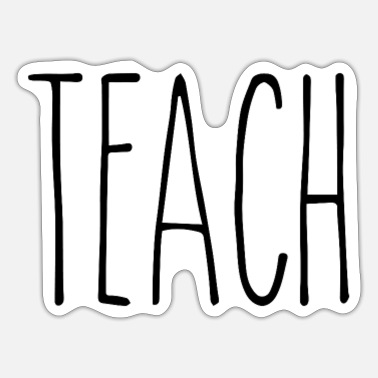 Rae Dunn Dunn Mug Style Teach Rae Teacher Gift New Christma - Sticker