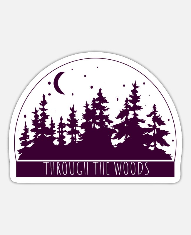 Travel Stickers - Woods Travel Adventure Hiking Camping Gift - Sticker white matte