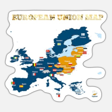 Map Europe Map - Sticker