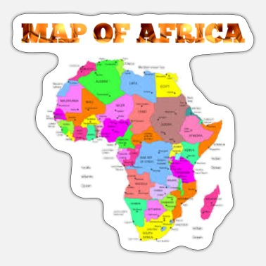 Map Map of Africa - Sticker