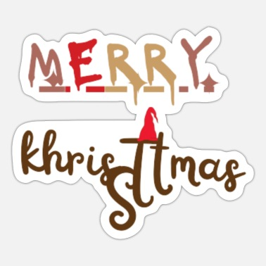 Shape merry chritmas love - Sticker