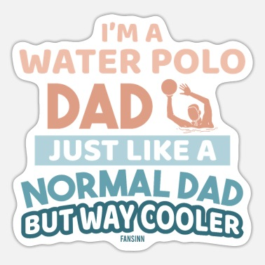 Water Cool Papa plays water polo - Sticker