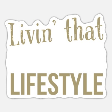 Hardcore Livin` That Raver Lifestyle - Sticker