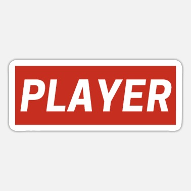 Aggressive Player Red White - Sticker