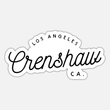 Neighborhood Crenshaw City Neighborhood Los Angeles California - Sticker