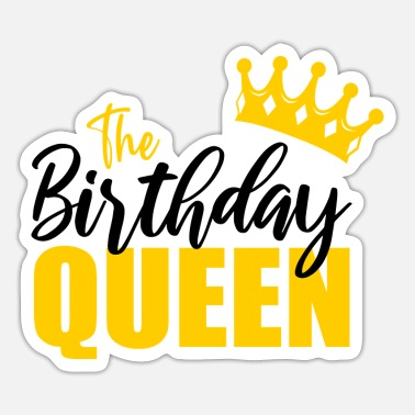 October The birthday queen cool gifts for birthday queens - Sticker