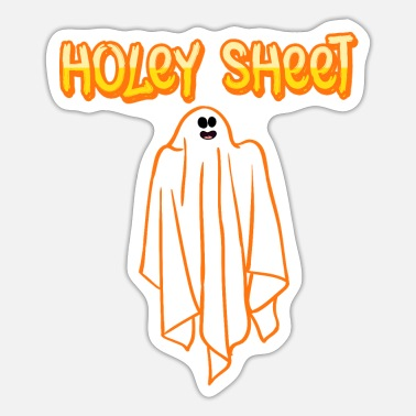 Magic Holy Sheet Happy Halloween Party Spooky Creepy - Sticker