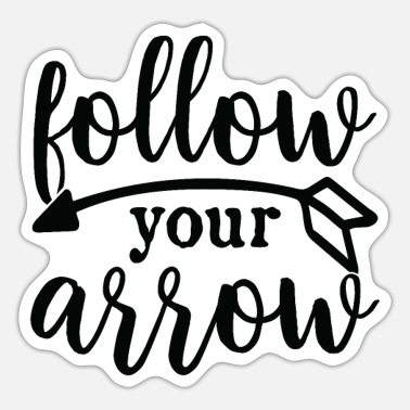 Creative follow your arrow - Sticker