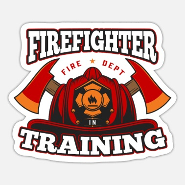 Farm Firefighter in Training Proud Fireman Hero Job USA - Sticker