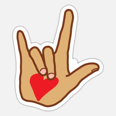 Sign Sign Language Symbol for Love - Sticker