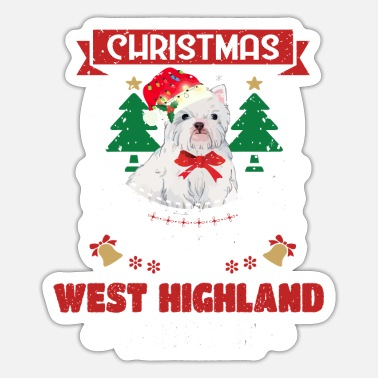 Westfalen Christmas Is Better With A West Highland White Ter - Sticker