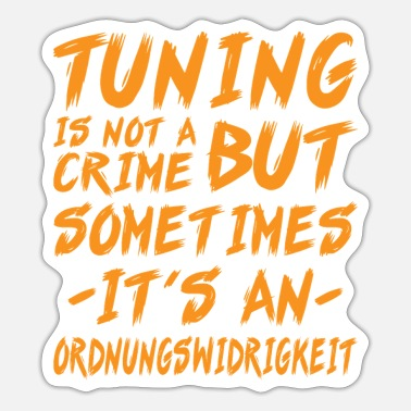 Tuning Tuning gift carfans mechanic - Sticker