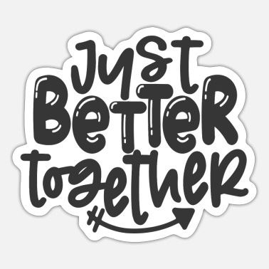 Wedding Reception Just better together couple arrow pointing right - Sticker