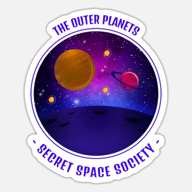 Secret Society The outer Planets, Secret Space Society - Sticker