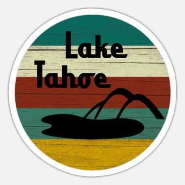 Lake Tahoe Lake Tahoe - Sticker