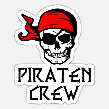 Pirate Party Pirate crew pirate skull party gift - Sticker