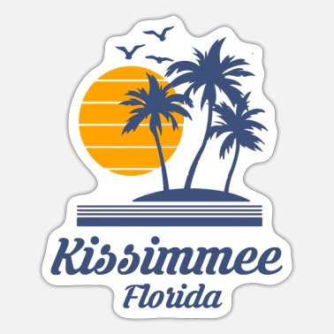 City-state Kissimmee Florida Fl City State Tourist Beach Souv - Sticker