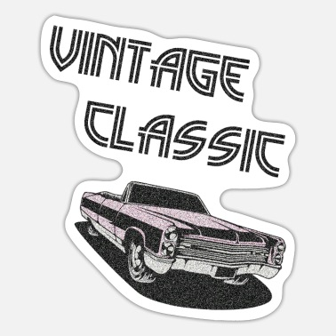 Classic Car Mechanic VINTAGE CLASSIC CAR - Sticker
