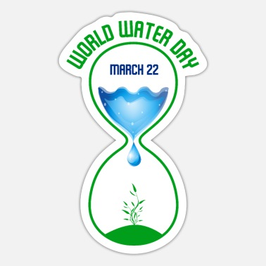 Water Droplets world water day - Sticker