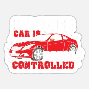 Vintage Car Model making remote control racing car - Sticker
