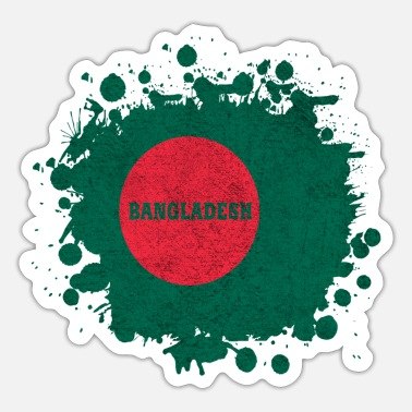 Bengali Bangladesh Splash Design - Sticker