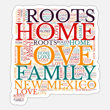 Hometown Love New Mexico Design, United States - Sticker