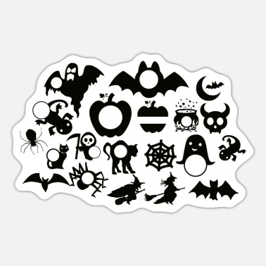 Monograms Halloween Monogram - Sticker
