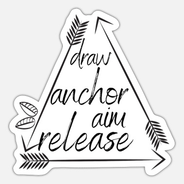 Release Draw Anchor Aim Release - Sticker
