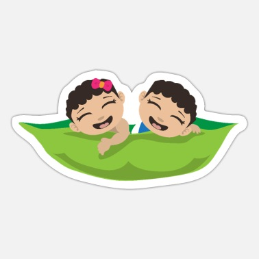 Wonder Twins Twins Two Peas in a pod Twin Babies Gift - Sticker
