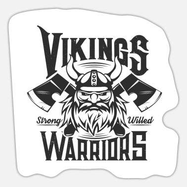 Thor Funny Vikings, Viking, fighters, seafarers, Nordic - Sticker