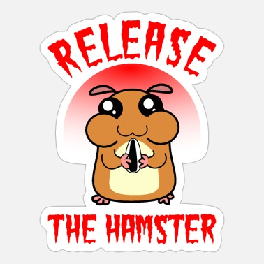 Release Release the hamster - Sticker