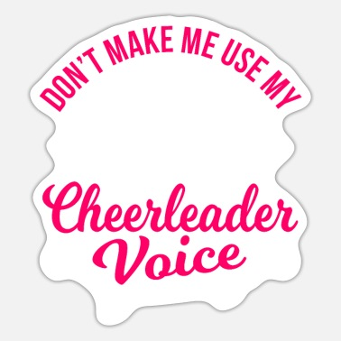 Chant Cheerleading Cheer Dance Gift Idea - Sticker