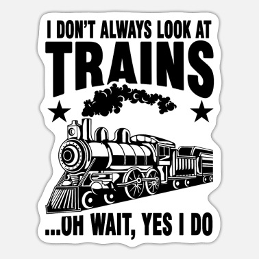 Train Driver Locomotive Steam Train Driver Gift - Sticker