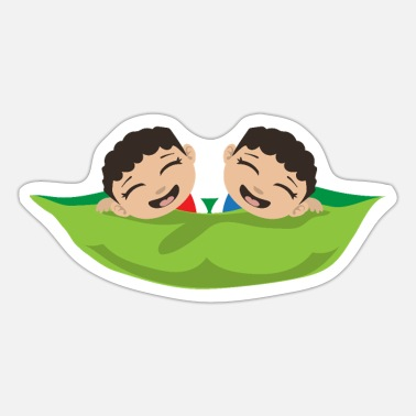 Wonder Twins Twins Two Peas in a pod Twin Boyes Gift - Sticker