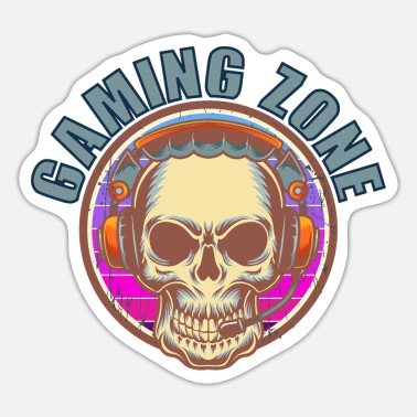Computer Funny quote saying gaming zone - Sticker