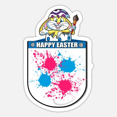 Thumper Happy Easter Painter Pocket Design - Sticker