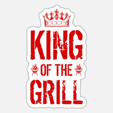 Grill Barbecue King King - Sticker