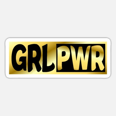 Crazy PWR, GIRL POWER, WOMEN POWER, WOMEN'S DAY - Sticker
