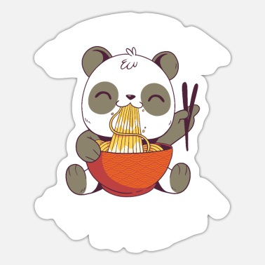 Love Japanese Noodles Powered By Ramen Love Japanese Noodle Kawaii Anime - Sticker