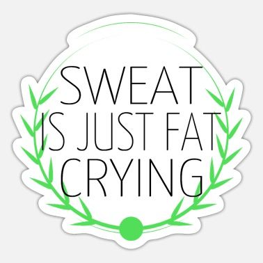 Sweating hustle animal workout swole do you even motivation - Sticker