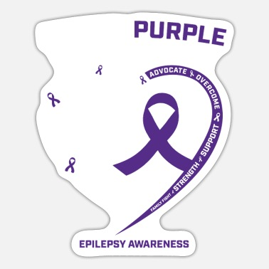 Gifts Epilepsy Awareness Products Purple Grandson - Sticker
