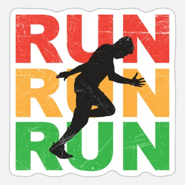 Year Run Run Run Marathon Jogger Runner Gift Idea - Sticker
