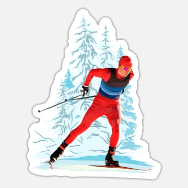 Cross Country Skiing Cross-country skiing - Sticker